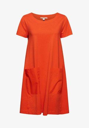 DRESS - Jersey dress - orange red
