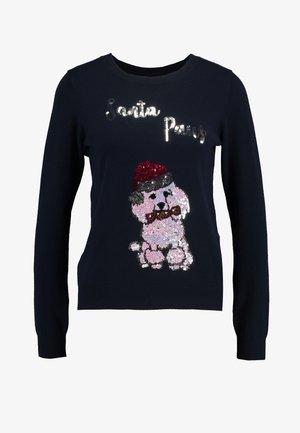 SANTA PAWS - Pullover - navy
