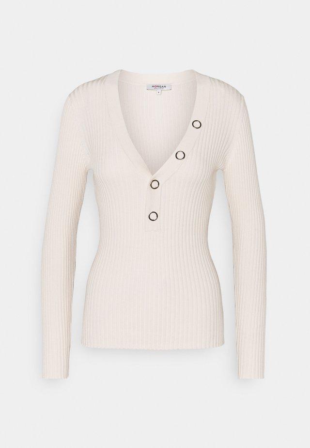 LOLA - Stickad tröja - ivoire