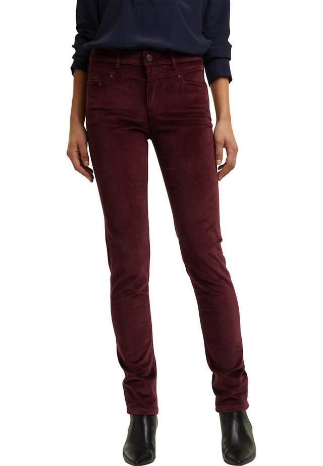 FASHION  - Trousers - bordeaux red