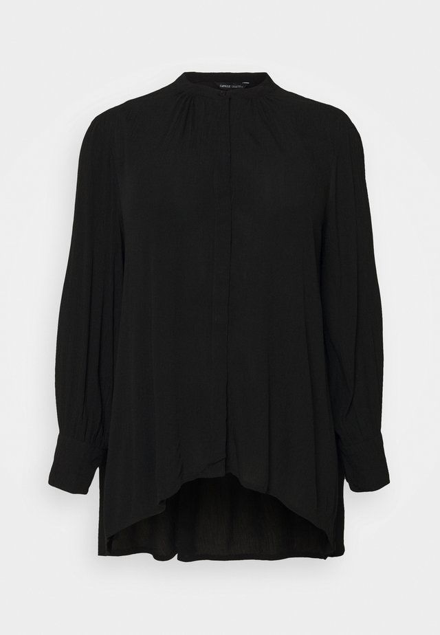 DIP BACK CRINKLE - Overhemdblouse - black