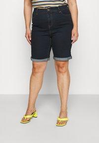 CAPSULE by Simply Be - Denim shorts - indigo - 0