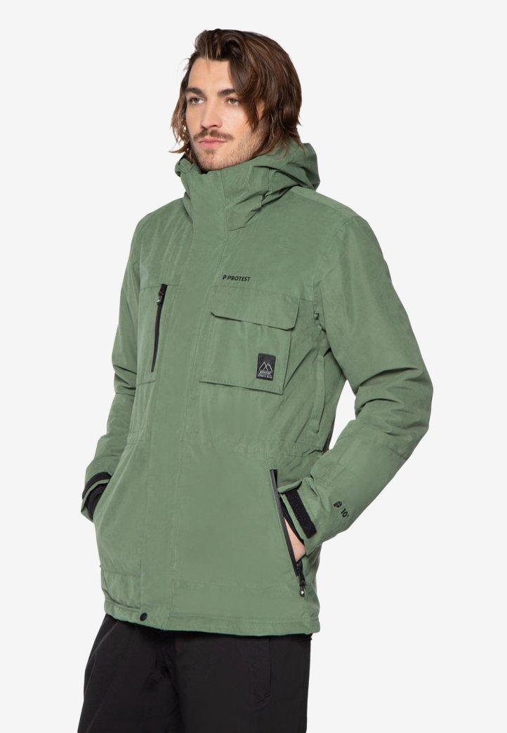 Protest - Ski jacket - mottled dark green
