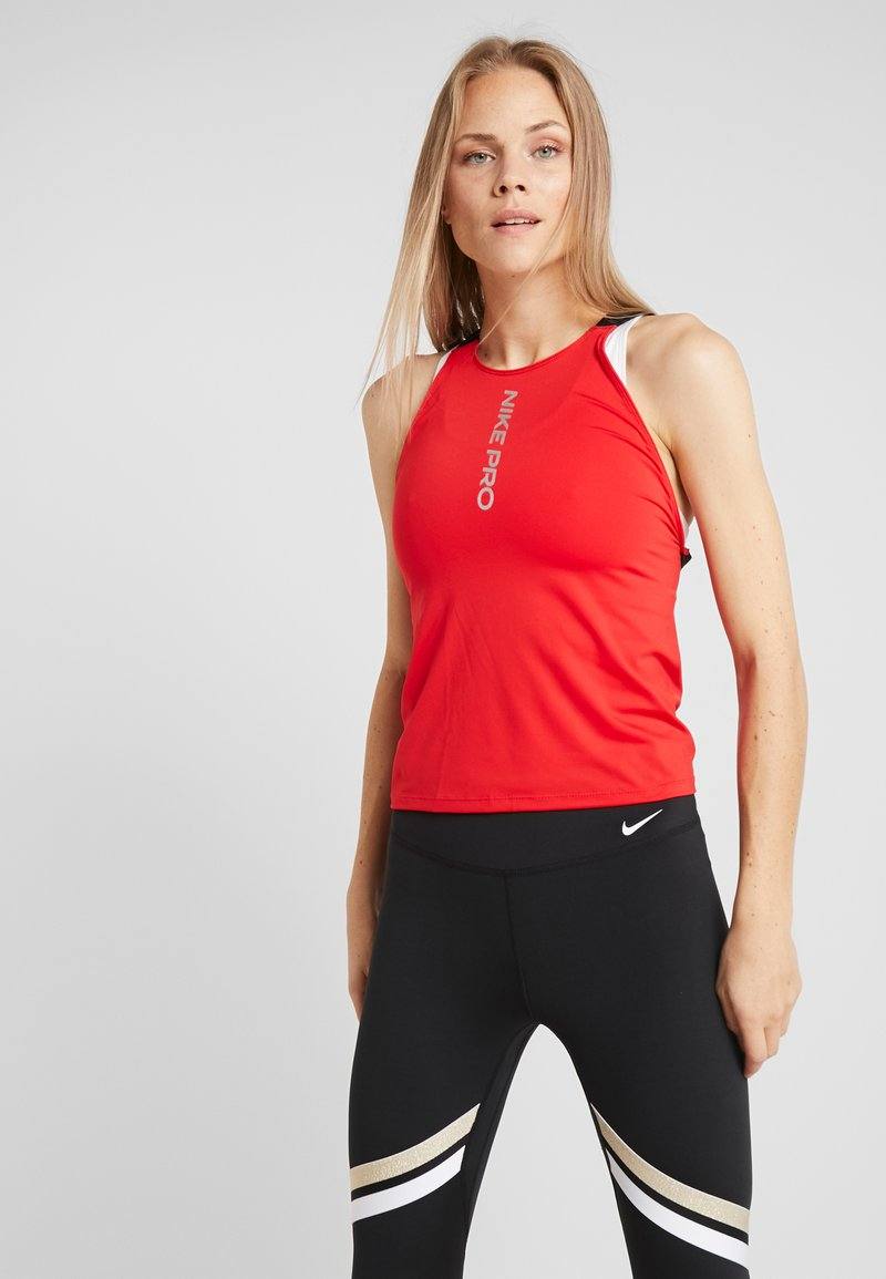 Nike Performance - CAPSULE ELASTIKA TANK  - Funktionströja - university red/metallic silver