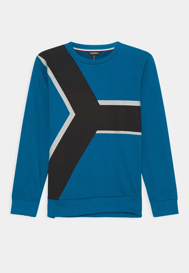 CONTRAST CREWNECK - Sweater - blue eleos