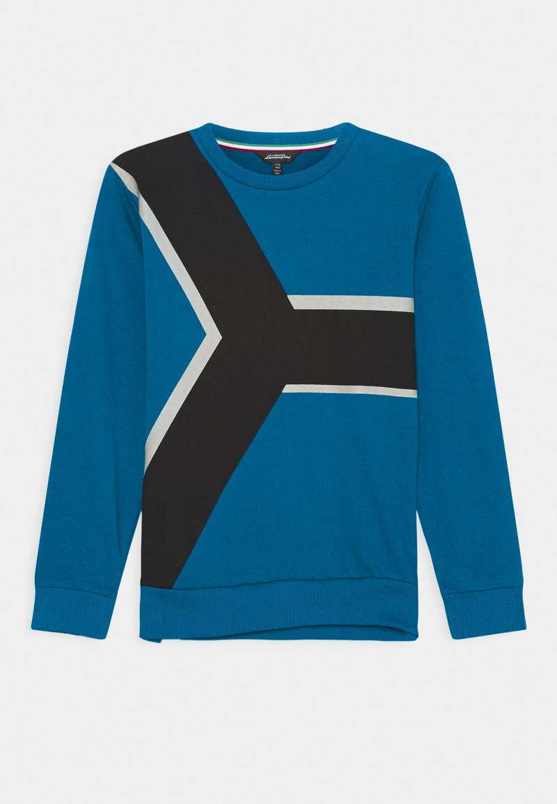 Automobili Lamborghini Kidswear - CONTRAST CREWNECK - Sweatshirt - blue eleos