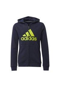 adidas Performance - MUST HAVES FLEECE FULL-ZIP HOODIE - Zip-up hoodie - blue - 0
