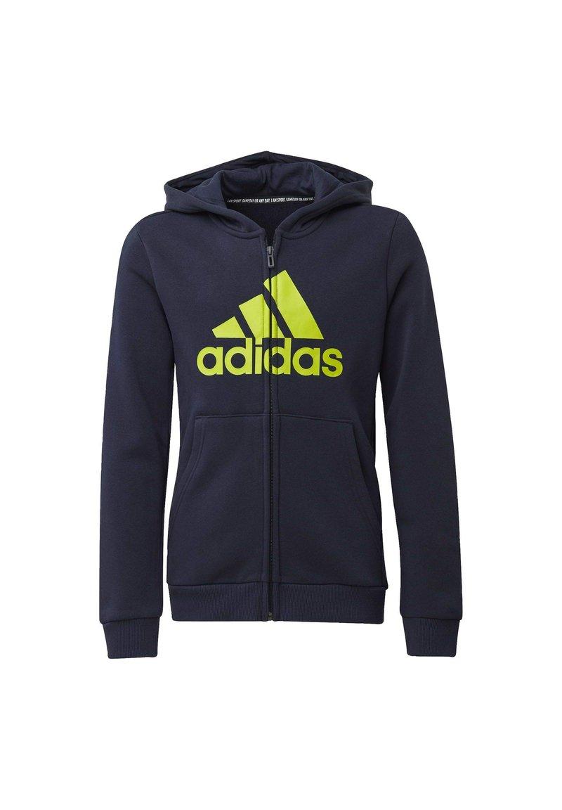 adidas Performance - MUST HAVES FLEECE FULL-ZIP HOODIE - Zip-up hoodie - blue