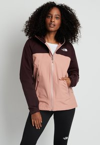 The North Face - STRATOS JACKET - Hardshell jacket - pinkclay/root - 0