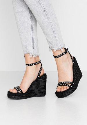 LUCY - Sandály na vysokém podpatku - black