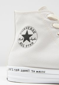 Converse - CHUCK TAYLOR ALL STAR HI RENEW - High-top trainers - pale putty/black/white - 9
