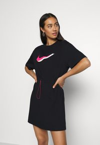 Nike Sportswear - DRESS - Sukienka z dżerseju - black/white - 0