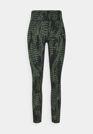 ICONIC PRINTED  - Tights - survive dark green