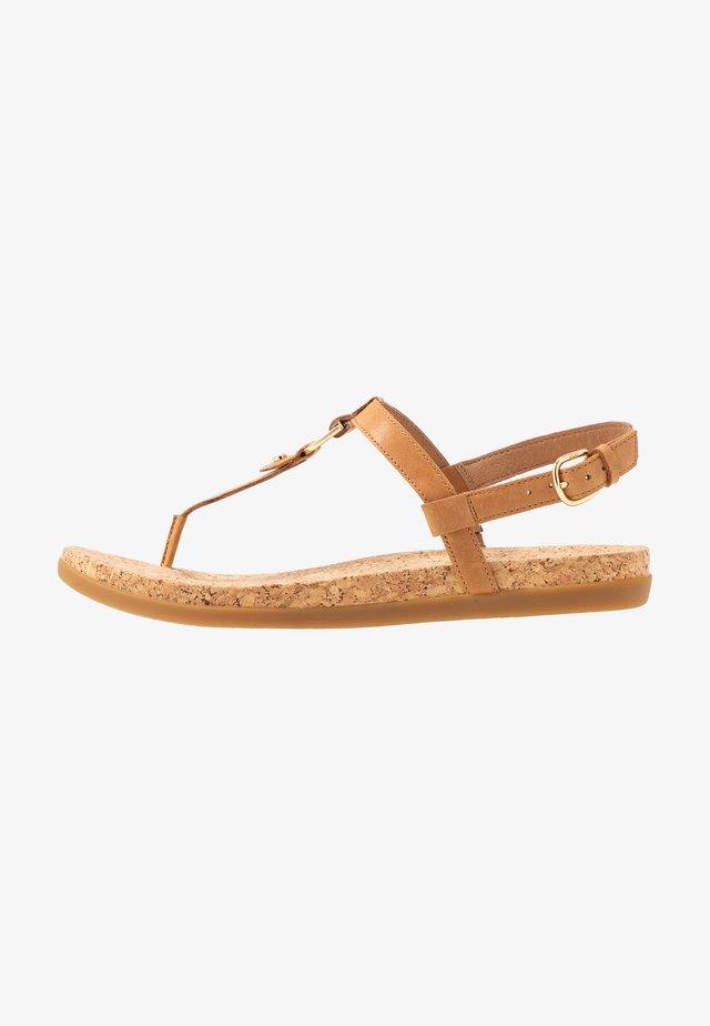 ALEIGH - T-bar sandals - almond