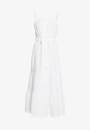 EYELET APRN MAXI DRESS - Maxikjoler - optic white