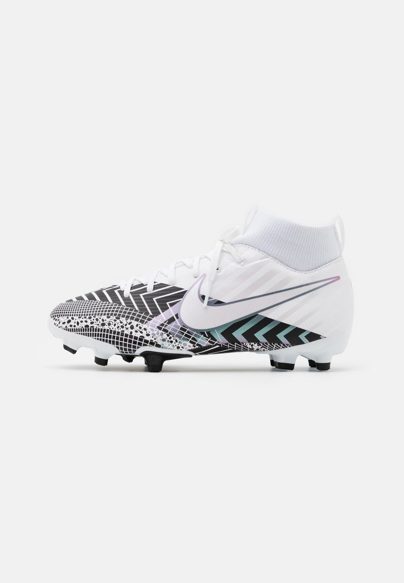 Nike Performance - MERCURIAL JR 7 ACADEMY MDS FGMG UNISEX - Moulded stud football boots - white/black