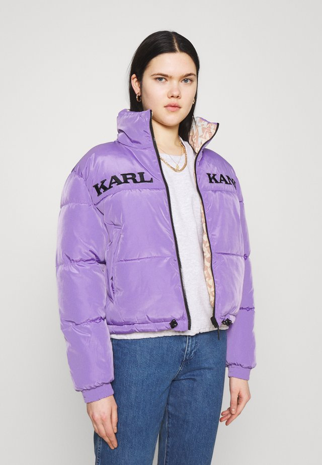 RETRO REVERSIBLE SHORT PUFFER JACKET - Talvitakki - lilac