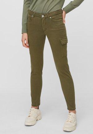 LULEA SLIM MID WAIST  - Slim fit jeans - dark green
