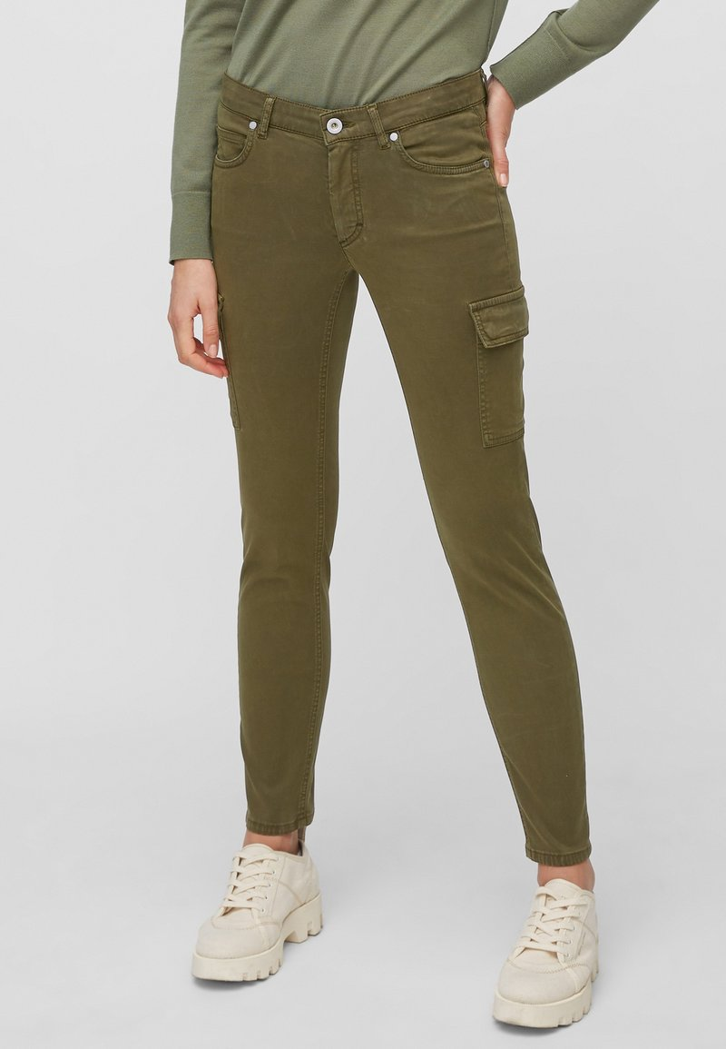 Marc O'Polo - LULEA SLIM MID WAIST  - Slim fit jeans - dark green