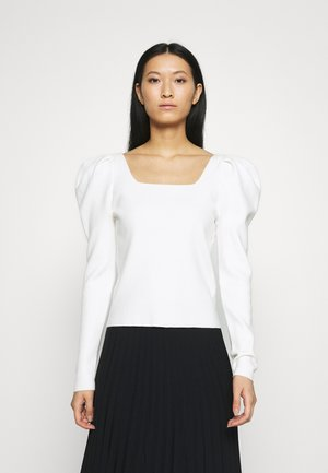 SQUARE NECK PUFF SLEEVE SERENE - Pullover - white