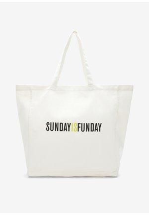 Tote bag - offwhite sunday print