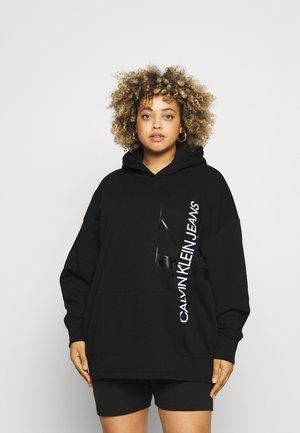 VERTICAL MONOGRAM HOODIE - Sweatshirt - black