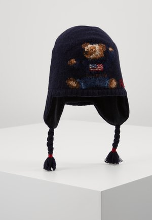 BEAR EARFLAP - Bonnet - navy