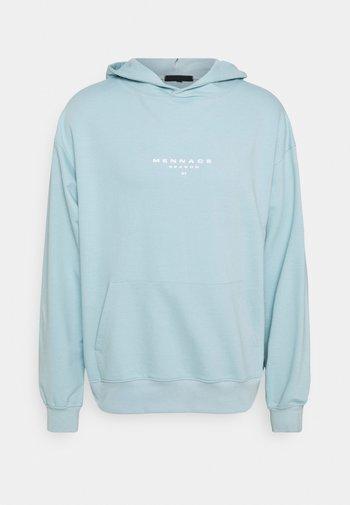 SUNDAZE FACE OVERSIZED HOODIE UNISEX - Sweatshirt - light blue