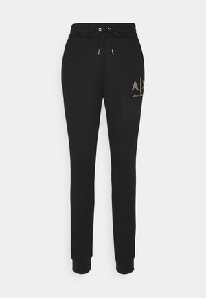PANTALONI - Tracksuit bottoms - black base/gold