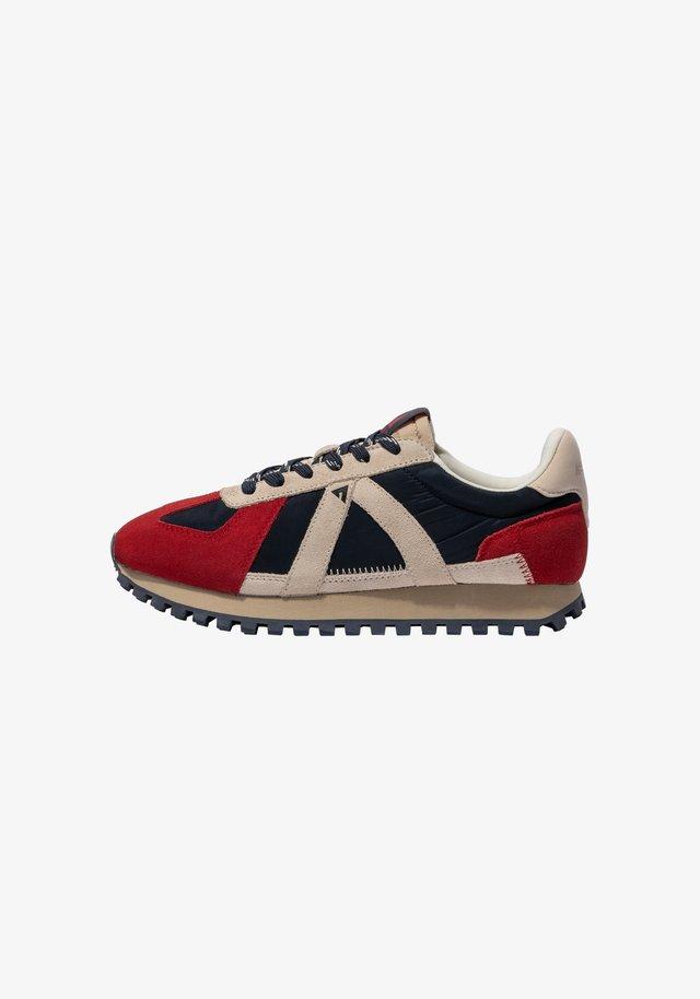 GATE GAT005 - SNEAKER LOW - Sneakers laag - navy tan red