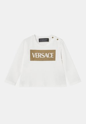 UNISEX - Long sleeved top - bianco/oro