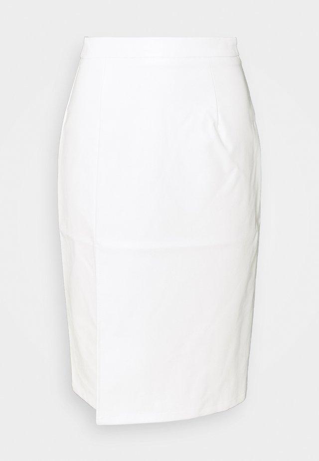 SIDE SLIT SKIRT - Pouzdrová sukně - off white