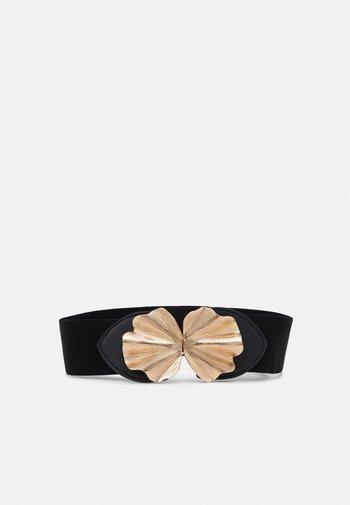ONLVALDINE LEAF ELASTIC BELT - Waist belt - black/golden