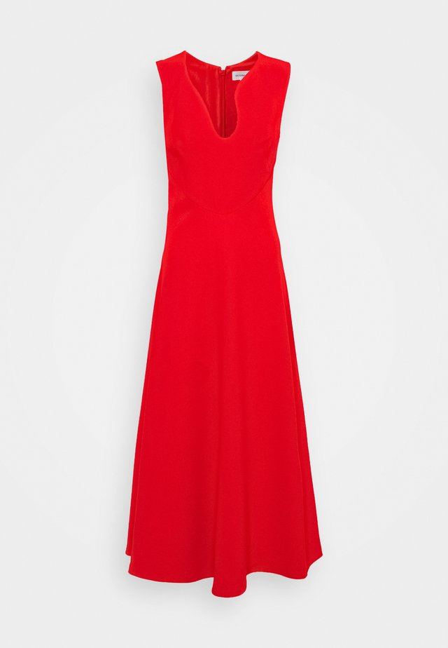 KEYHOLE FIT AND FLARE - Robe de soirée - bright red