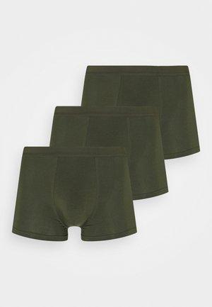 3 PACK - Pants - dark green