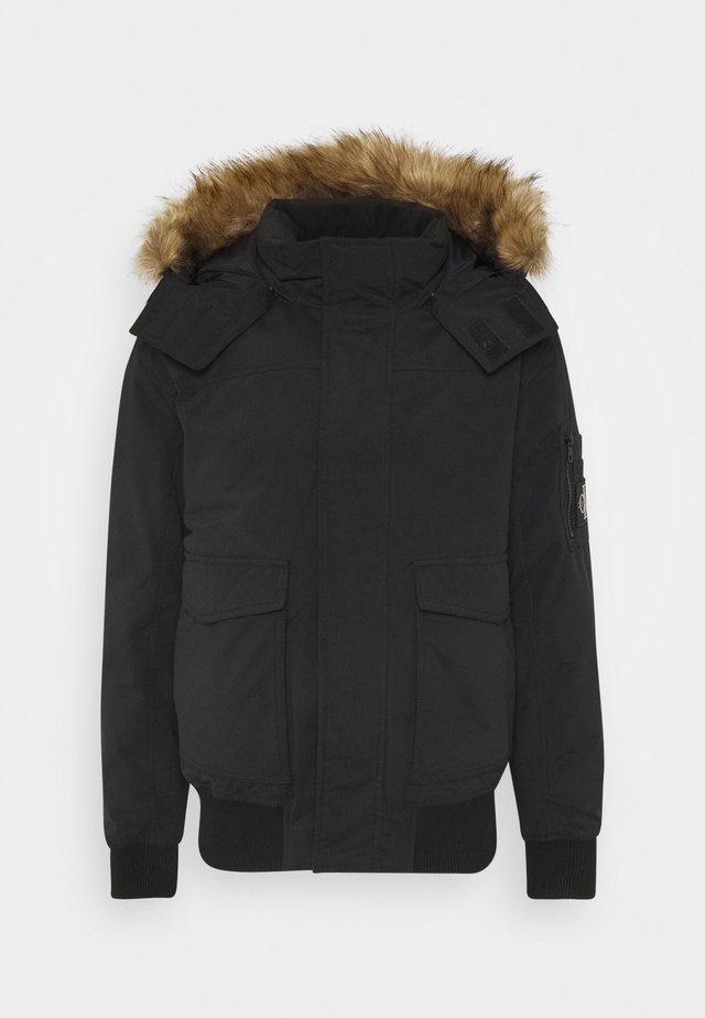 TRIMMED JACKET - Down jacket - black