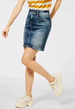 ROCK - Denim skirt - blau