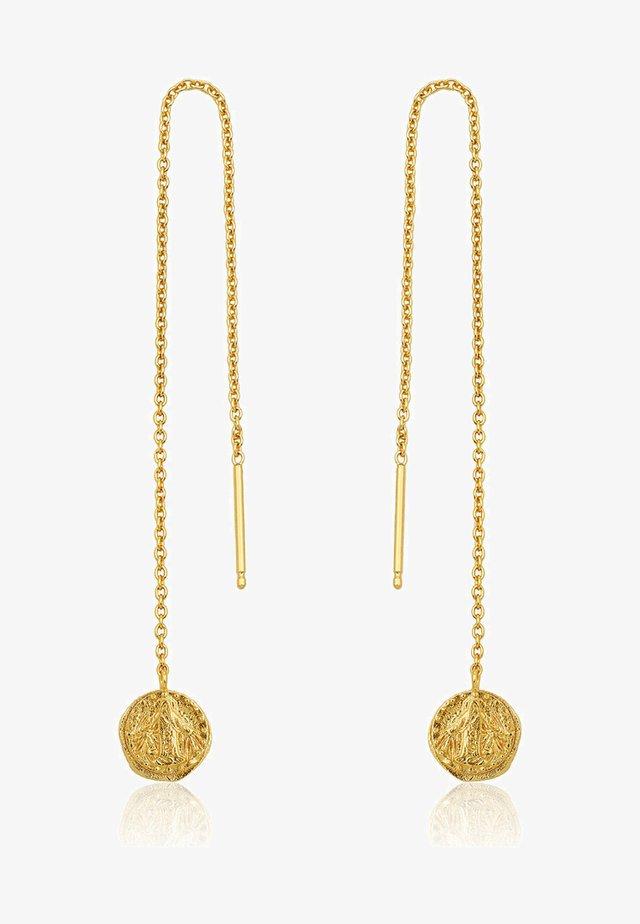 DEUS THREADER - Earrings - gold