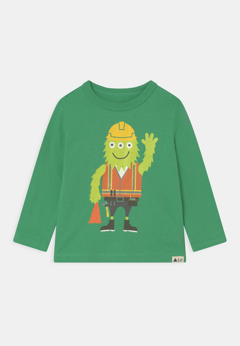 GAP - TODDLER BOY GRAPHIC - Long sleeved top - bright meadow