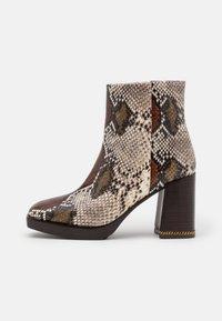 Tory Burch - RUBY BOOTIE - Kotníkové boty na platformě - aspen multicolor - 0