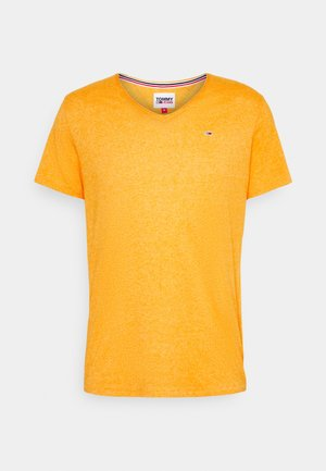 SLIM JASPE V NECK - Basic T-shirt - yellow
