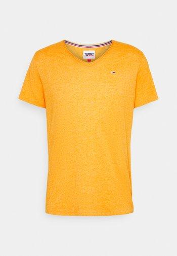 SLIM JASPE V NECK - Basic T-shirt - yellow