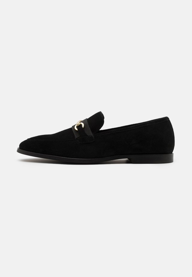 LEATHER - Mocassins - black