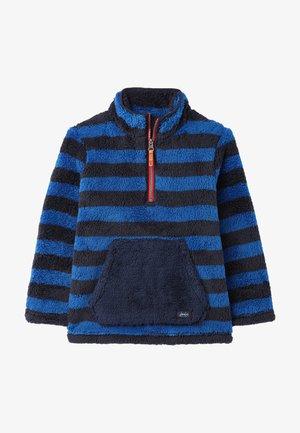 Fleece jumper - blau streifen