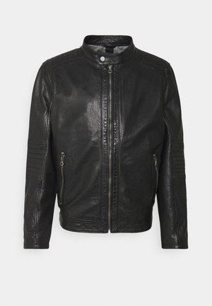 DAVIN - Kožená bunda - black