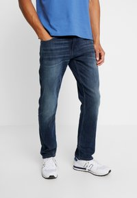 TOM TAILOR - MARVIN - Straight leg jeans - dark stone wash denim blue - 0