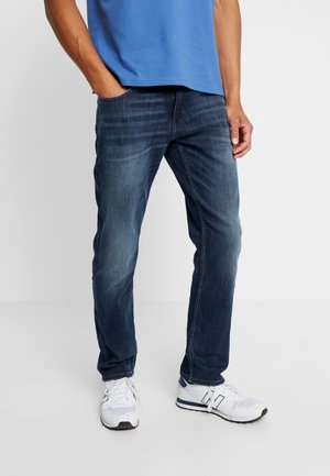 MARVIN - Straight leg jeans - dark stone wash denim blue