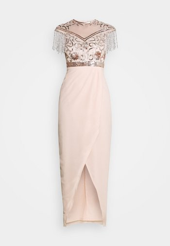SAVANNAH - Společenské šaty - nude/silver