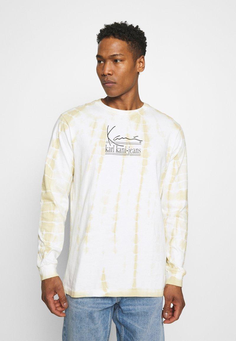 Karl Kani - SIGNATURE TIE DYE UNISEX - T-shirt à manches longues - white