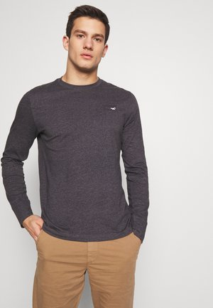 COLORBLOCK SPORT LOGO - Long sleeved top - black